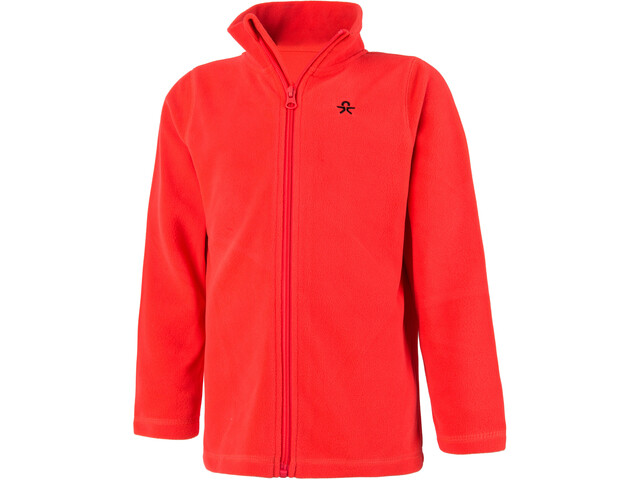 Color Kids Tembing Fleece Veste Enfant, racing red